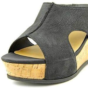 FRANCO SARTO Fiora Sandal Black Leather 9.5
